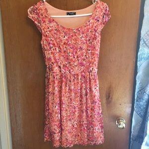 Floral Lace Dress - Sequin Hearts